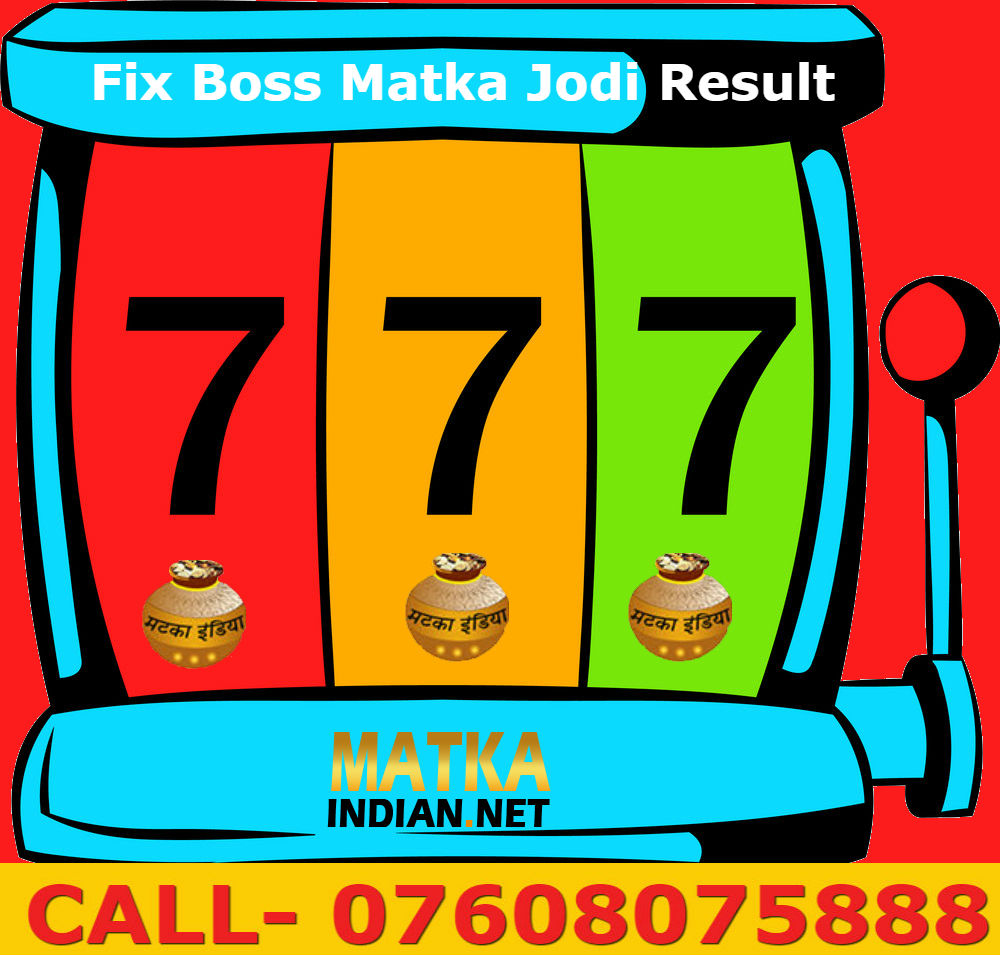 Fix Boss Matka Jodi Result